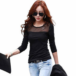 Girls Round Neck Casual Wear Top, Size: S-XL