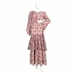 10 Cotton Hand Printed Women's Long Dress India DB28