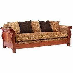 Brown Modern Three Seater Sofa, Size: 22-26 Inch (height), Warranty: 1 Year