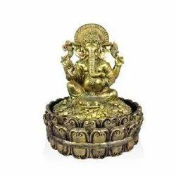 6828 Metal Golden Ganpati