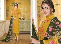 A-Line Unstitched Georgette Embroidered Salwar Kameez