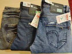 Comfort Fit Faded Denim Jeans