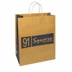 Kraft Paper Bags, For Shopping, Capacity: 5kg