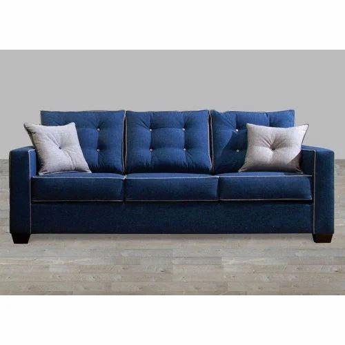 Navy Blue Fabric Sofa कपड क स फ