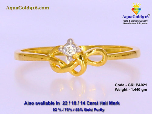 AquaGold916 22 Carat La s Gold Ring GRLPA021 Rs 2950 gram