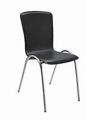 黑色皮革时尚餐厅椅子