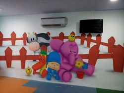 Cartoon Painting for Play School