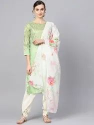 Silk Dhoti Kurti with Dupatta