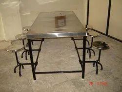 Unique Enterprises Black MS canteen Table, Seating Capacity: 6 Seater, Size: L66
