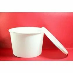 Hazel Polypropylene 500ml White Round Pp Food Packaging Containers