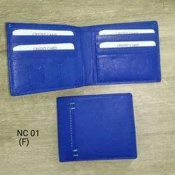 Mens Blue Leather Wallet