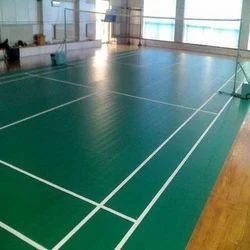 Indoor Green Synthetic Badminton Court Flooring