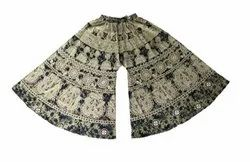 Flared PALAZZO Multicolor Cotton Printed Thailand Pant, Waist Size: 40, Size: Free