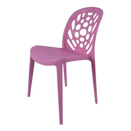 Pink Plastic Armless Chair