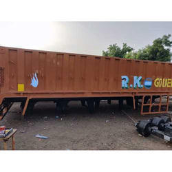Brown Side Wall Trailer Body