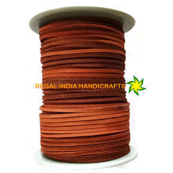 Orange Flat Square Leather Laces- 3mm By 3mm Leather Cord