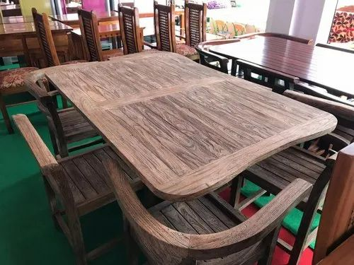 Wood Grain Wooden Imported Indonesian Teak Dining Table Rs 65000