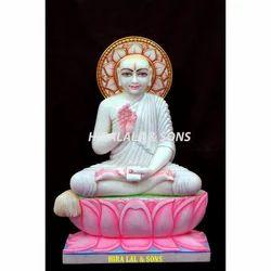 White Marble Gautam Swami Statues
