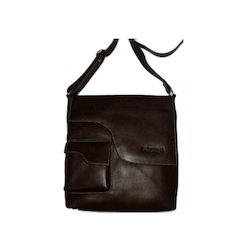 Brown Mens Leather Shoulder Bag, Pure Leather: Yes