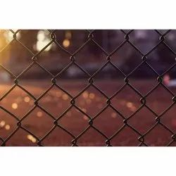 Paint Coated Black Galvanized Iron Chain Link Fence, For Fencing