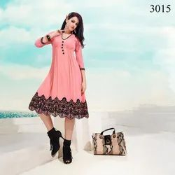 Alohi Georgette and Chiffon Kurtis Images