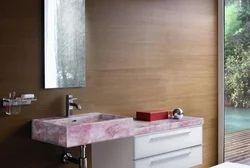 Rose Quartz Bathroom Vanity Counter