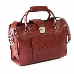 Leather Brown Portfolio Office Bag