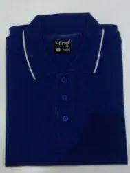 Men's Cotton Royal Blue Cllar T-Shirt