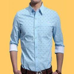 Mens Cotton Sky Blue Formal Shirts, Size: S-XL