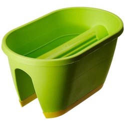 Green Plastic Planter
