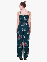 Full Length Rayon Floral Printed Jumpsuit
