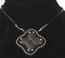 Traditional Beads Metal Pendant