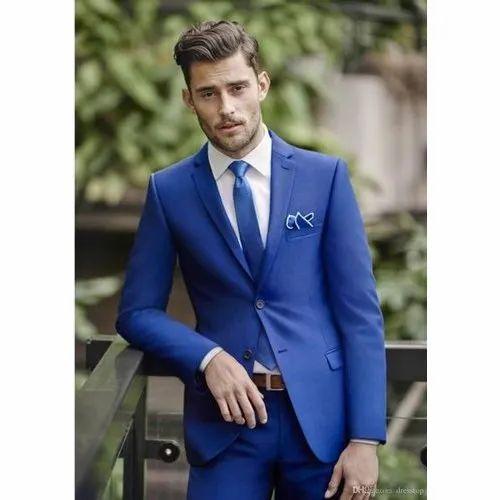 2 Piece Suit Party Blue Plain Mens Suit Rs 6990 1 Unit O Life Pvt Ltd Id 20678777730