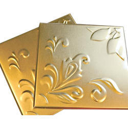 Embossed Box Brass Wall Tiles, 5-10 Mm
