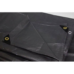 Black Waterproof Plastic Tarpaulin