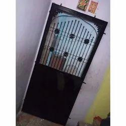 Brown Iron Safety Door