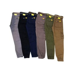 Plain Regular Fit Mens Cargo Pant, Packaging Type: Packet