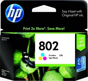 Ink Type HP 802 Tri-Color Ink Cartridge - CH564ZZ