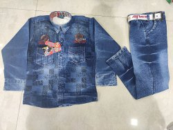 Denium Casual Wear Baba Suit, Small