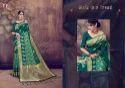 Anumol Party Wear Cotton Lilen Silk Saree
