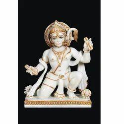 Hanuman White Marble Statue