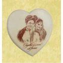 Plain Stone Heart Shaped Wooden Frame, For Gift