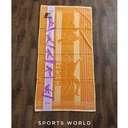 Rajashree Orange,Purple Printed Sport Towel, 450-550 GSM, Size: 73x146 Cm