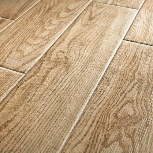 Light Brown Wood Wooden Floor Tile Rs