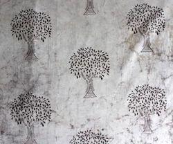 Natural Dye Palm Tree  Kashish Batik Print Fabric