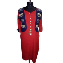 Ladies Designer Cotton Jacket Kurti