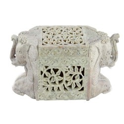 Soapstone Box With Jaali Work