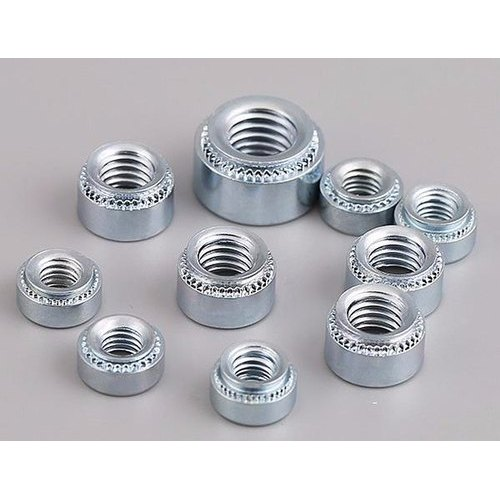 Minimum Sheet Thickness Quantity: 5,000 pcs .8 mm M5-0.8-0 Self Clinching Nuts//Steel//Zinc//Shank Height .77 mm