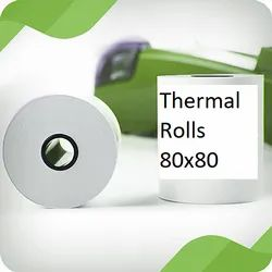 Thermal Rolls 80mm x 80mm, GSM: 55gsm, Top Coated