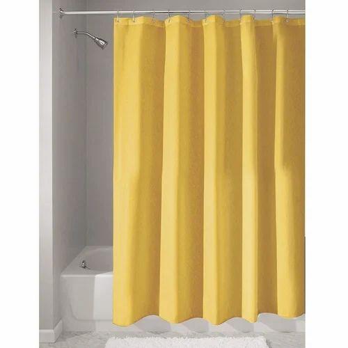 Yellow And Blue Plain Draperi